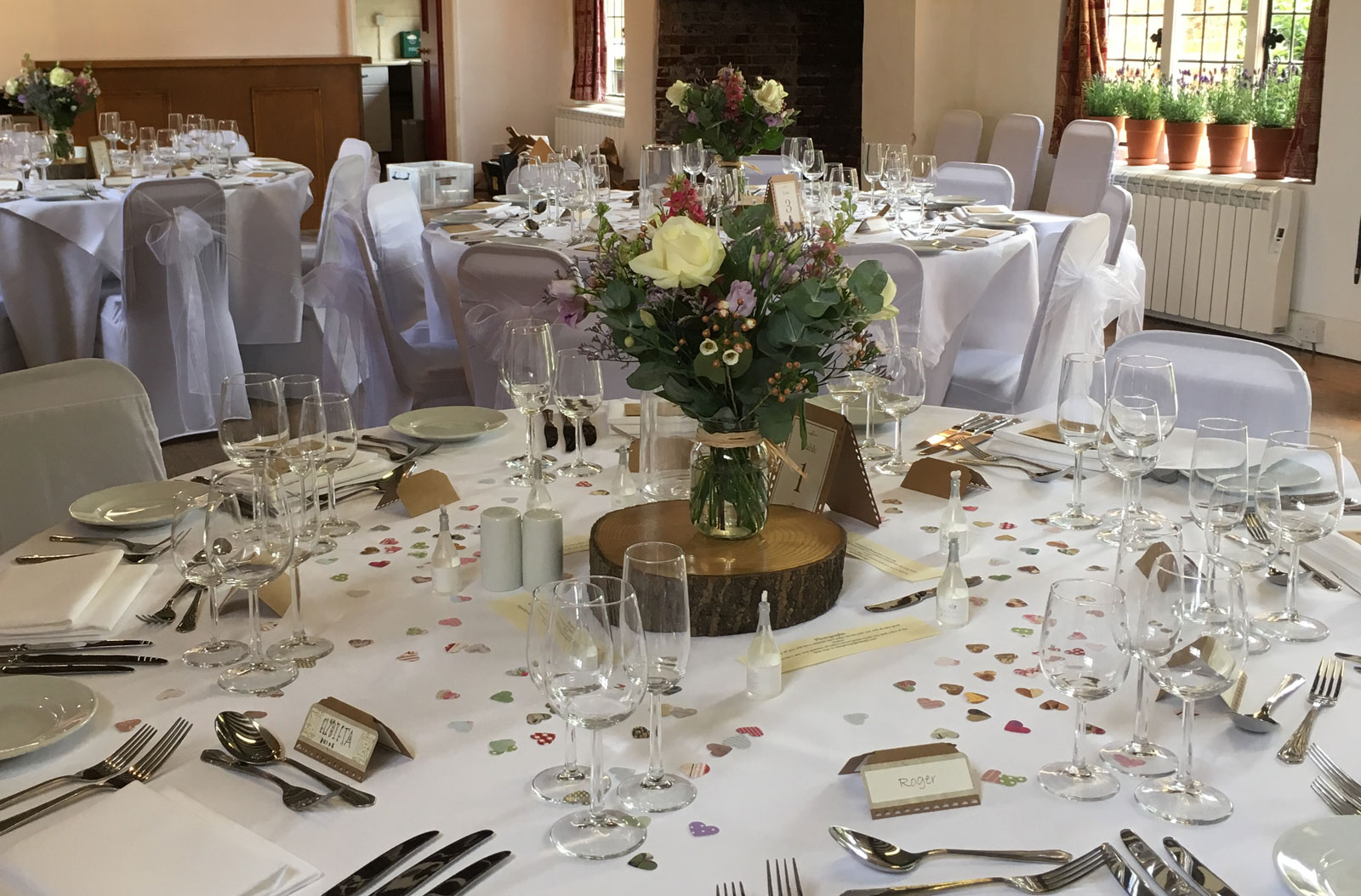 Cutlery hire Suffolk - a set table