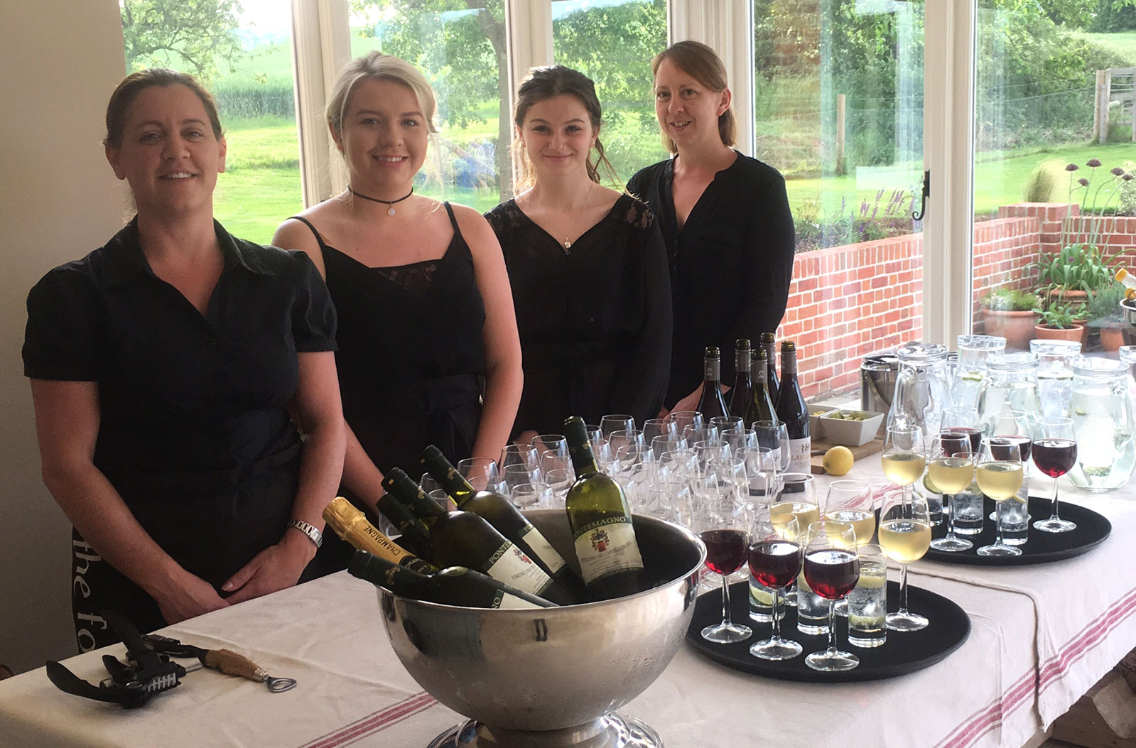 The Food Station catering staff - The Food Station - event catering and equipment hire, Suffolk