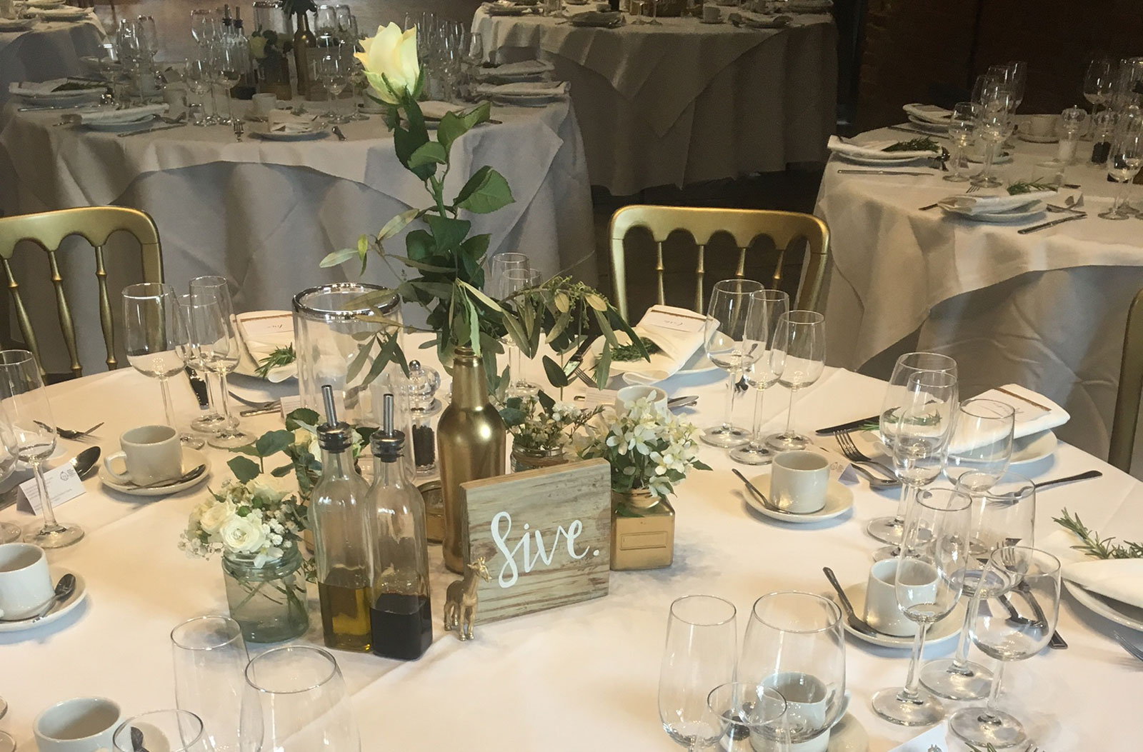 Catering equipment hire - wedding table arrangement