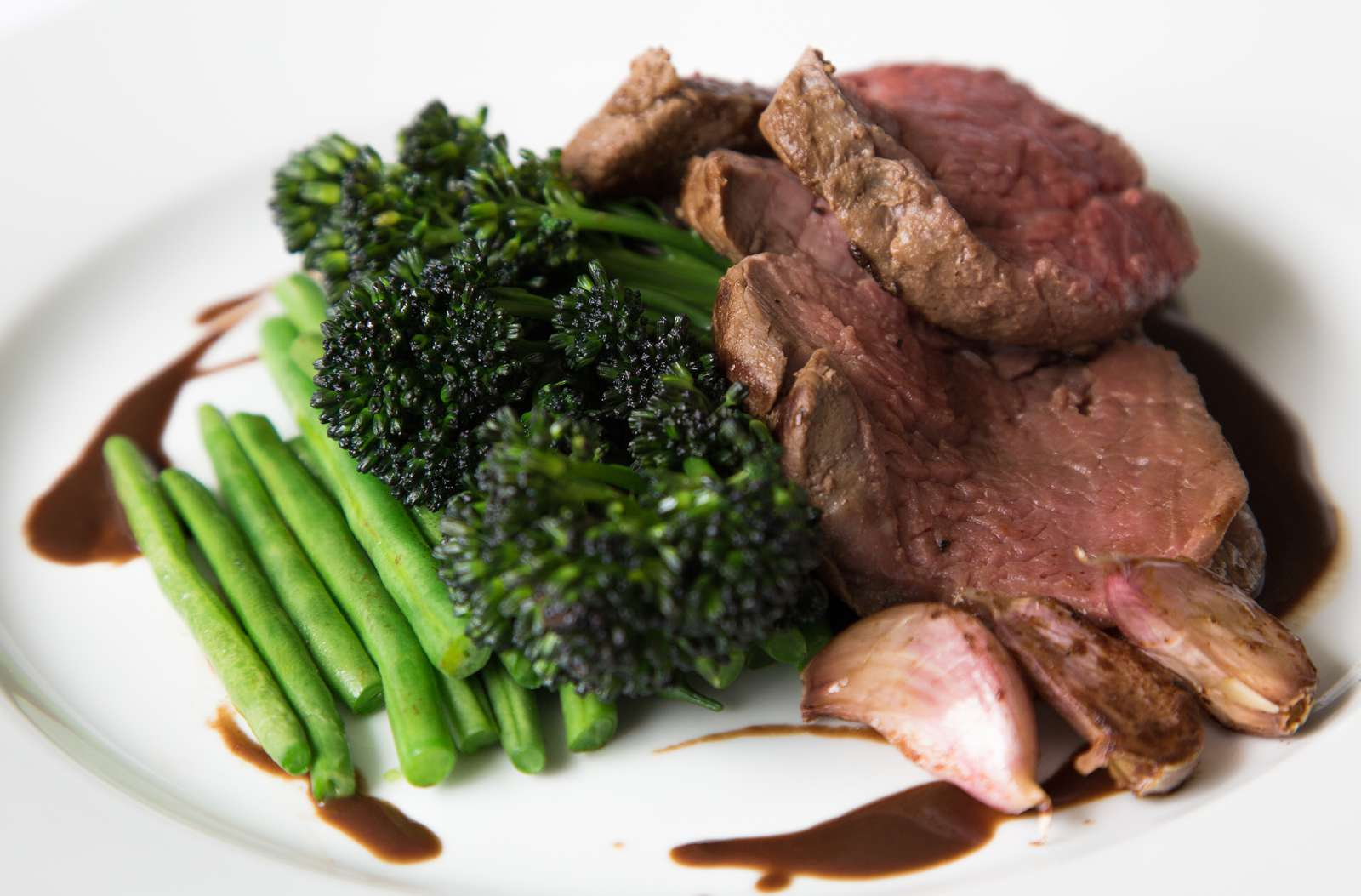 Provate party catering - roast beef and seasonal vegetables